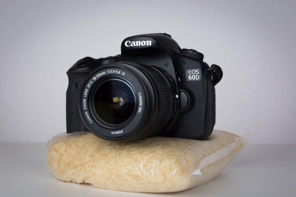 stabiliser son appareil photo sur un sac de riz