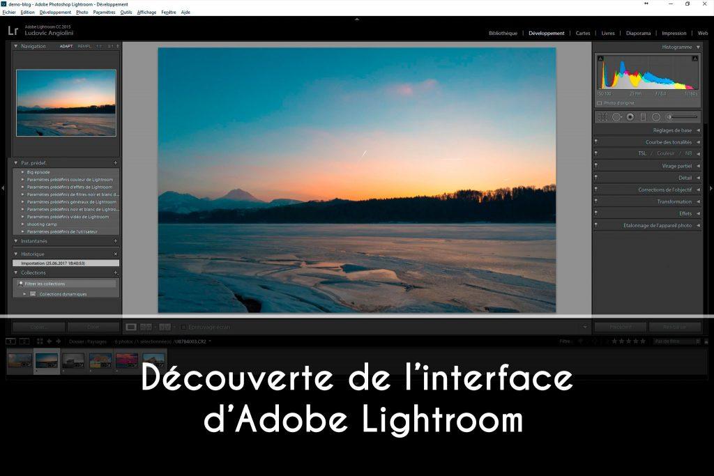 Découverte de l'interface d'Adobe Lightroom