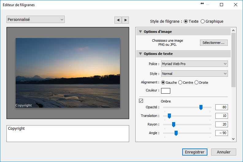 Adobe Lightroom - Configurer un filigrane ou une signature
