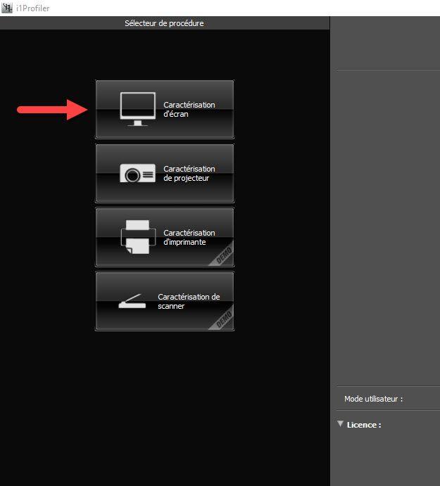 Calibration écran - i1profiler