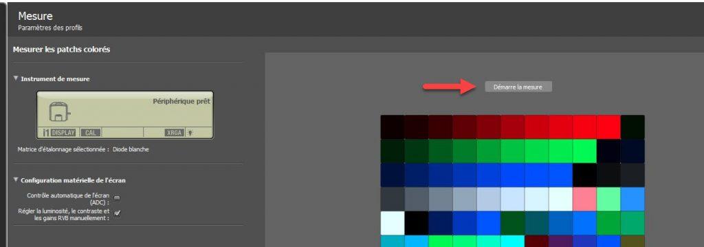 Calibration écran - i1profiler mesure