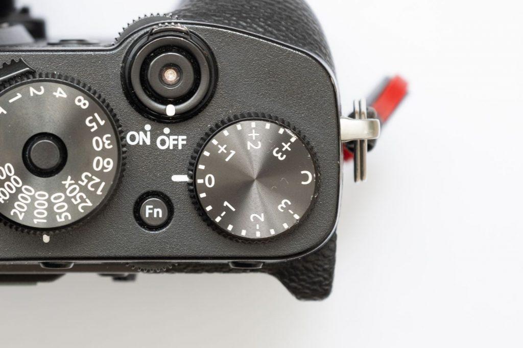 Molette correction d'exposition Fujifilm