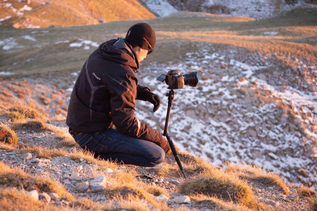 Utilisation d'un trépied en photo de paysage