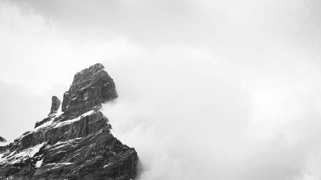 Téléobjectif sommet montagne