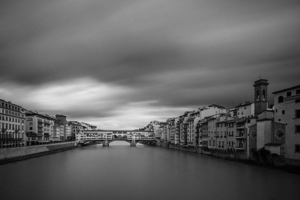 Pose longue 2 minutes Ponte Vecchio Florence